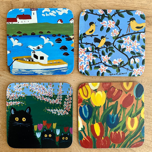 Coasters- Set of 4 | Maud Lewis | Art Gallery of NS