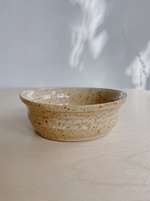Wheat Rimmed Desert Bowl   Postma Pottery
