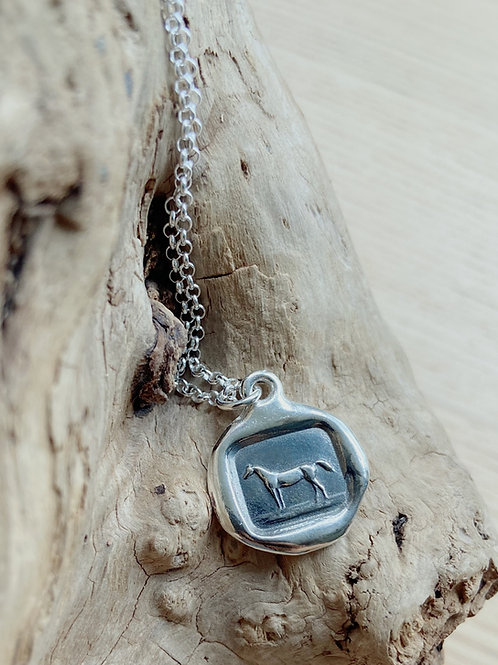 Horse Silver Necklace | Equestrian | Plum + Posey