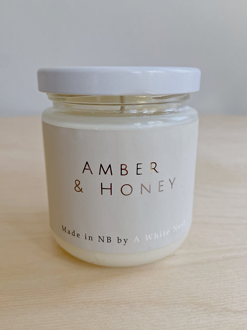 Amber + Honey Candle | A White Nest