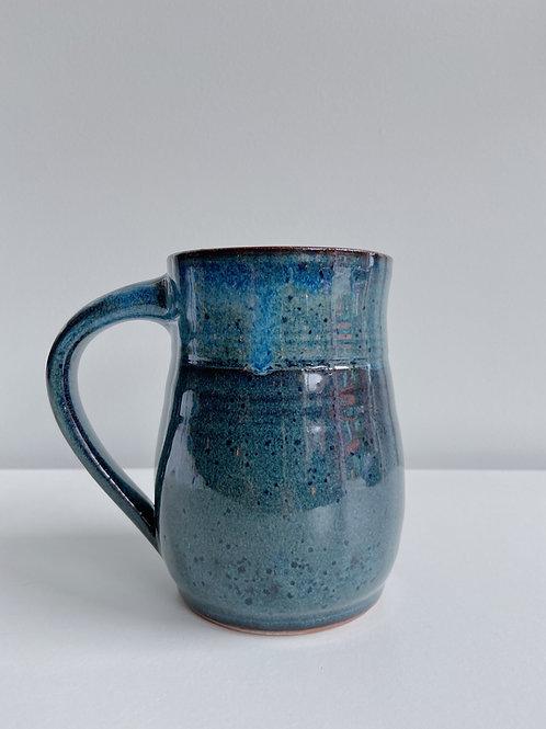 Sea Blue Tulip Mug | Sea Winds Pottery