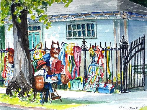 Local Colour on Spring Garden- Original Painting | Pat Shattuck