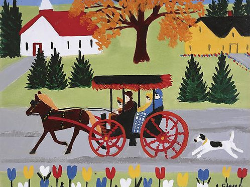 Dog and Carriage Print | Maud Lewis | Art Gallery of NS