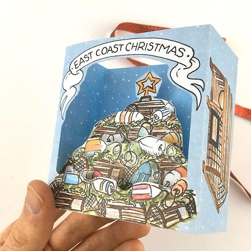 Lobster Trap Christmas Tree Pop-Up Card | BardBardBard