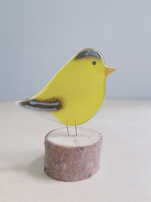 Large Standing Goldfinch | The Glass Bakery