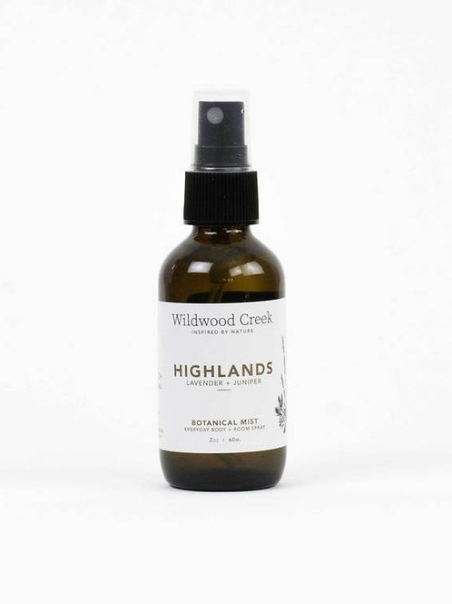 Highlands Botanical Mist | Wildwood Creek