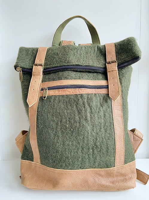 The Essential Backpack- Sage | Fibres of Life