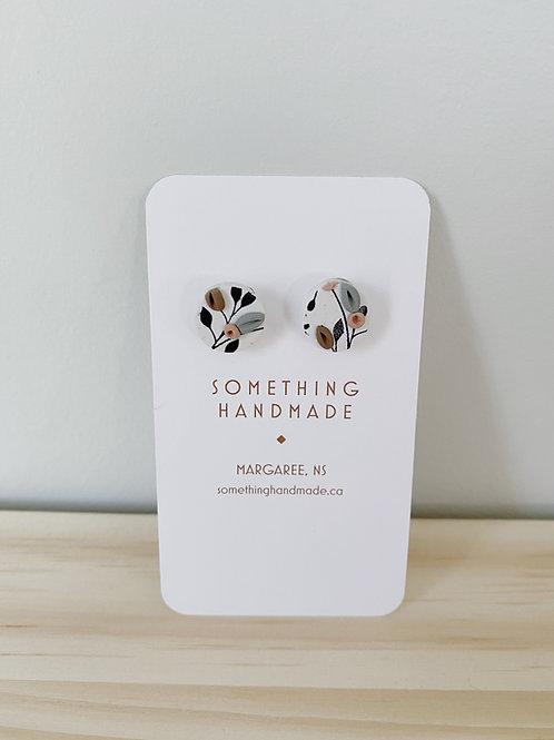 Brynlee Mini White Floral Stud Earrings   Something Handmade