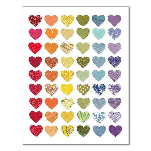 Rainbow Hearts Card | Cards by Kate