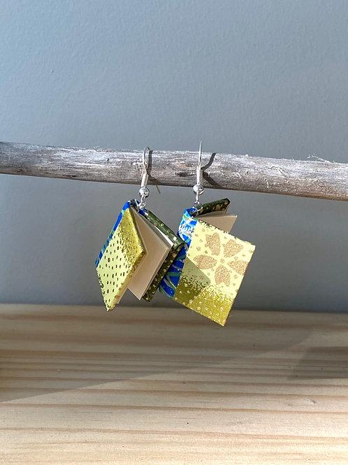 Dream Book Earrings | Yellow Flower | Terry Durnavich
