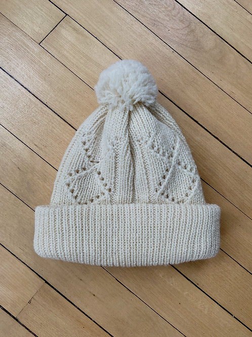 Traditional Pattern Toque - Natural | NWK