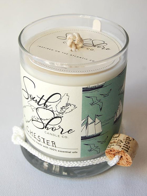 Chester Candle (Lime + Grapefruit + Geranium) | South Shore Candle Co.