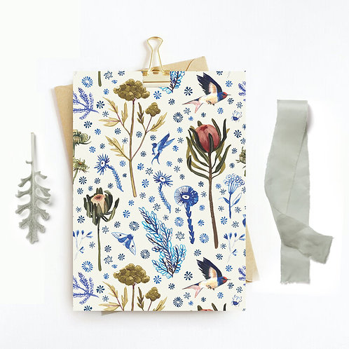 Swallow + Flowers Card | Briana Corr Scott