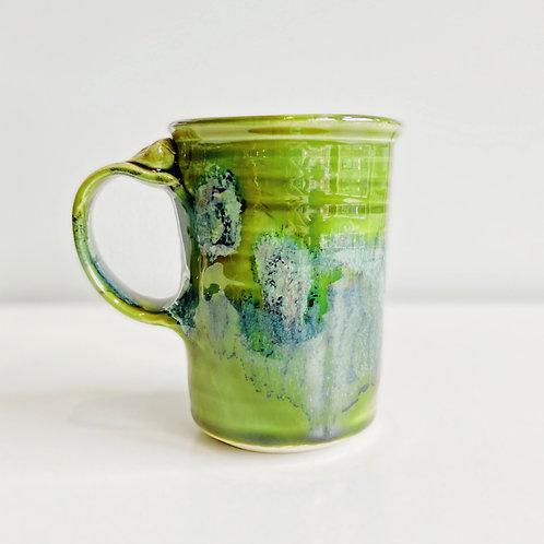 Green Collage Mug   Greig Pottery