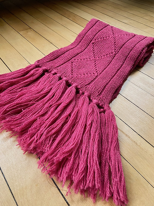 Traditional Pattern Scarf - Magenta | NWK