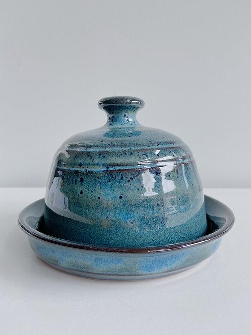 Sea Blue Butterdish | Sea Winds Pottery