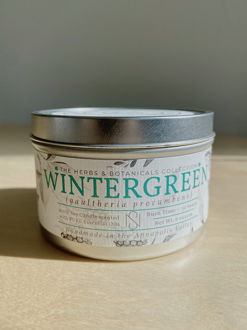 Wintergreen Candle | New Scotland Candle Co.