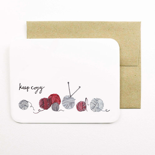 Keep Cozy Card   Field Day Paper