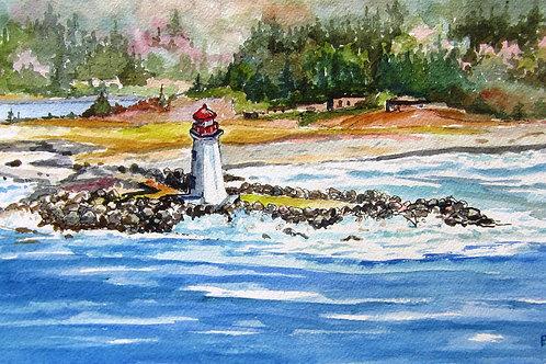 Bird's Eye View of MacNab's Island- Original Painting | Pat Shattuck