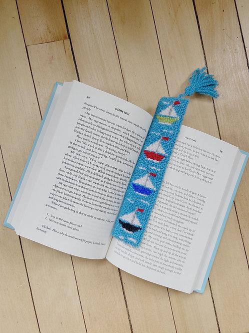 Boat Bookmark | Cheticamp Rug Hooking