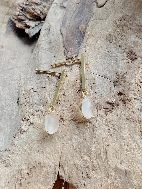 Gold Bar Stud +  Earrings   Elephant/Castle