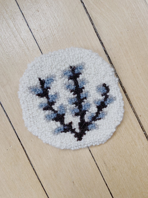 Pussy Willow Coaster | Cheticamp Rug Hooking