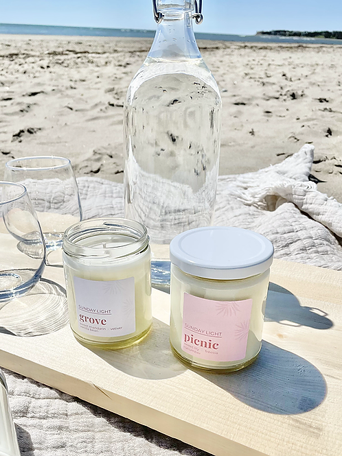 Picnic | sweet lily + freesia + cucumber | Sunday Light Candle Co.