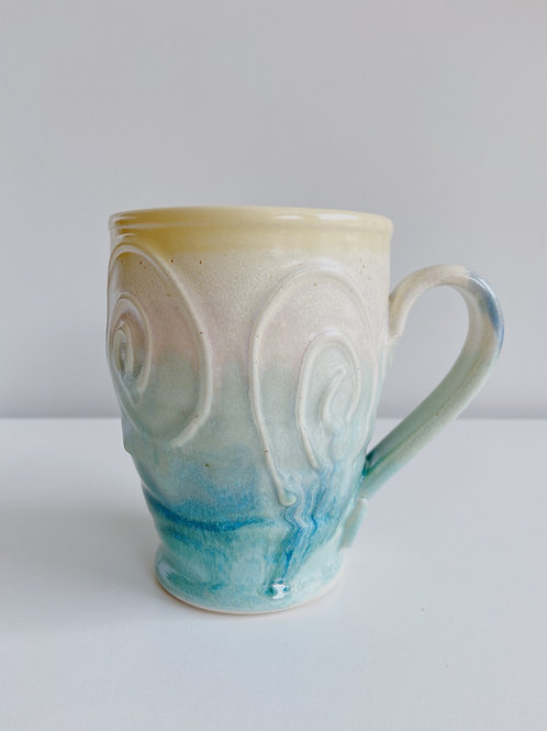 """Lemon Mist"" Tall Coffee Mug  3.5""x4.5""high"