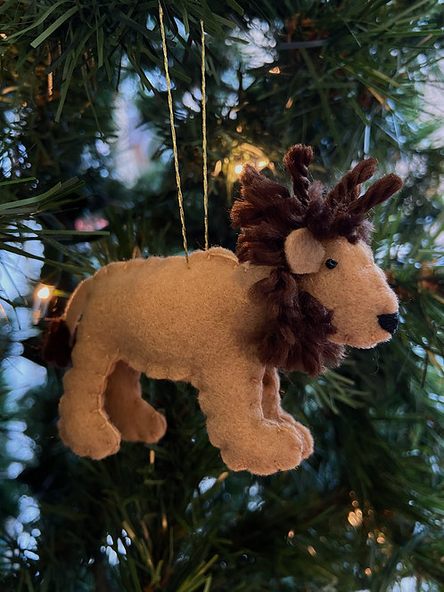 Lion Felt Ornament | Rosemary Taylor
