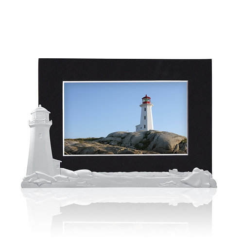 Peggy's Cove Picture Holder   Amos Pewter