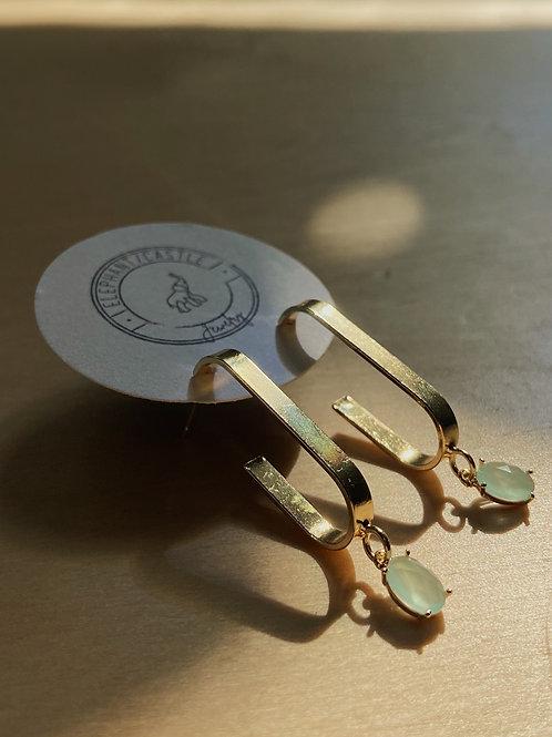 "Gold ""Hug"" Earrings with Cubic Zirconia | Elephant/Castle"