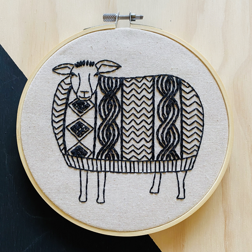 Sweater Weather Complete Embroidery Kit | Hook, Line + Tinker