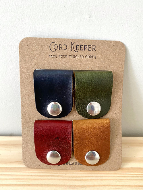 Leather Cord Keeper- Set of 4 | Hammerthreads