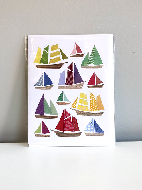 Colourful Sail Card | Cards by Kate