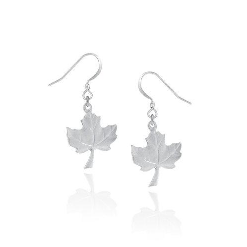 Maple Leaf Earrings | Amos Pewter
