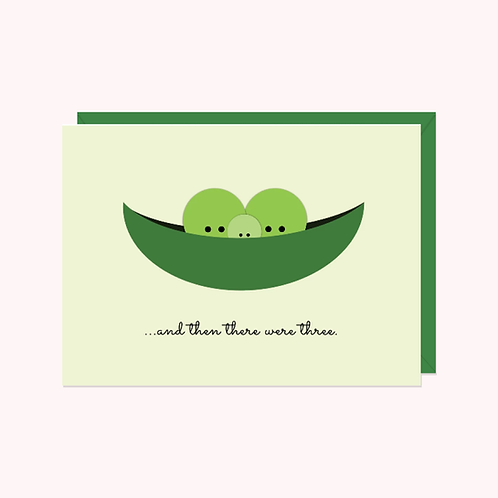 Pea Pod: And Then There Were Three... Card | Halifax Paper Hearts