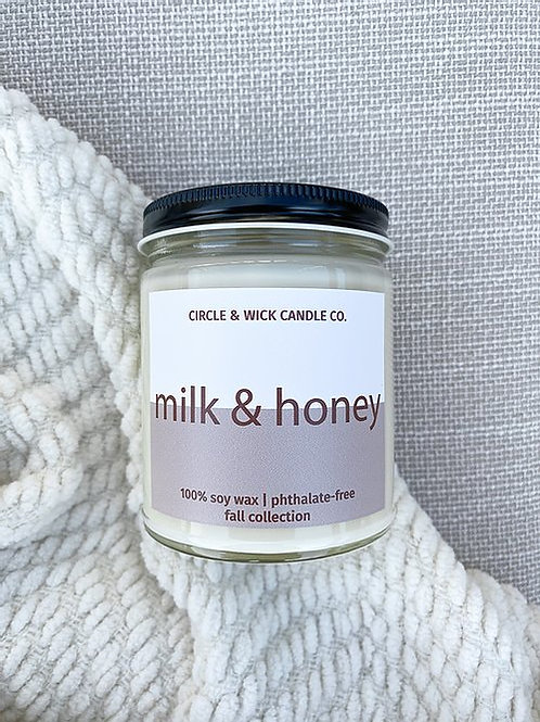 Milk + Honey Candle | Circle & Wick Candle Co.