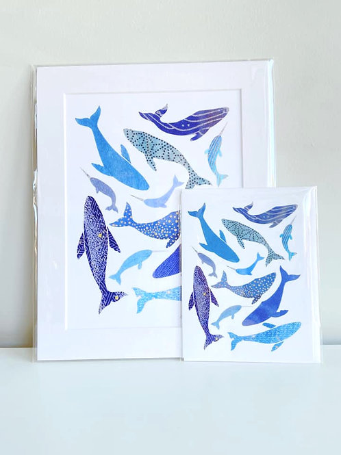 Whales | Cards by Kate