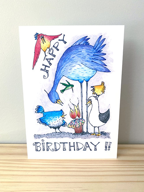 Happy Birthday Birds Card | Helen Painter