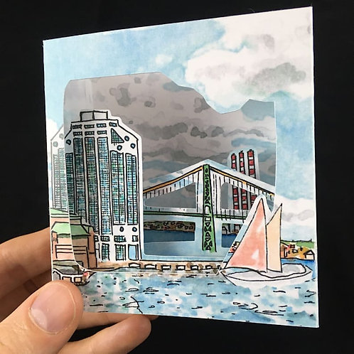 Purdy's Wharf Pop-Up Card | BardBardBard