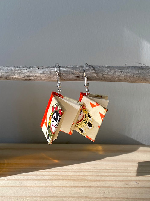 Dream Book Earrings   Cat Motif   Terry Durnavich