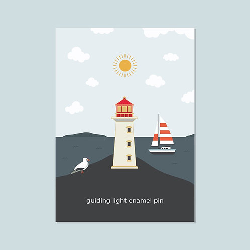 Peggy's Cove Lighthouse Pin | Halifax Paper Hearts