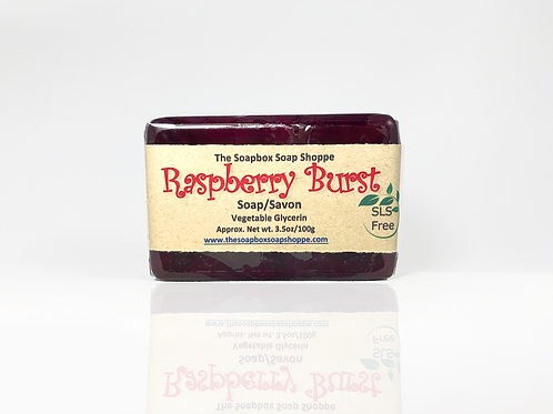 Raspberry Burst Soap   The Soapbox Soap Shoppe