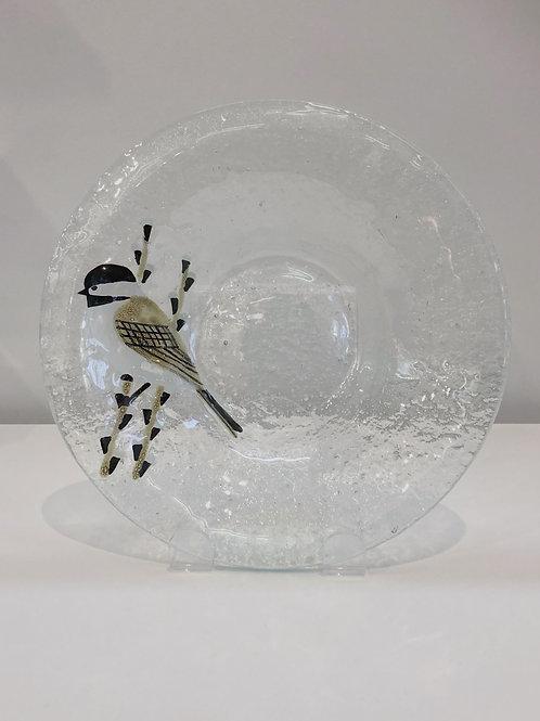 Chickadee Bubble Glass Bowl | Mariner Craft