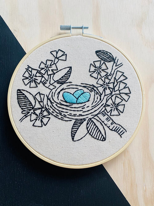 Nest Egg Complete Embroidery Kit | Hook, Line + Tinker
