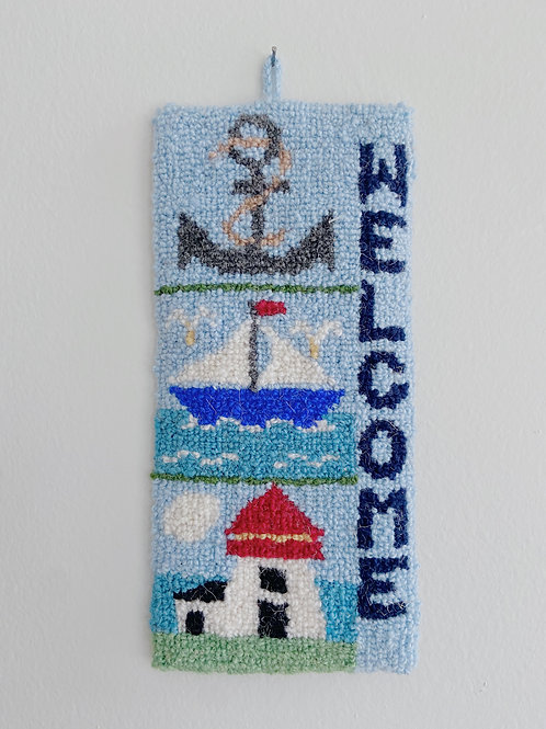 Maritime Welcome Hanging | Cheticamp Rug Hooking