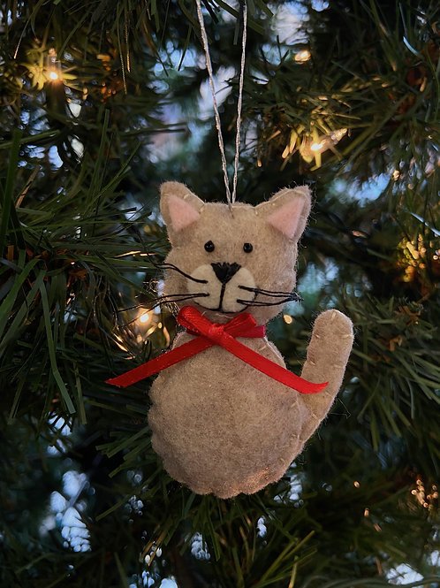 Sitting Cat Felt Ornament | Rosemary Taylor
