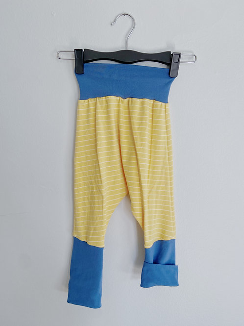 Grow-With-Me Pants | Blue + Yellow Stripe | Saelvage