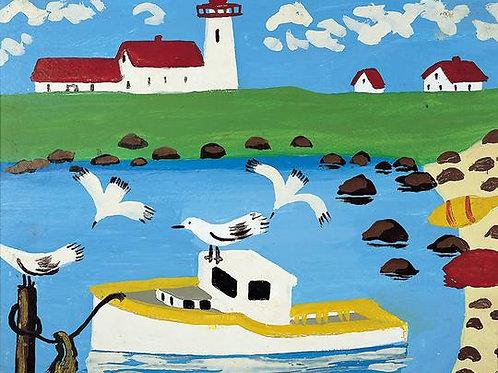 Cape Islander Print   Maud Lewis   Art Gallery of NS