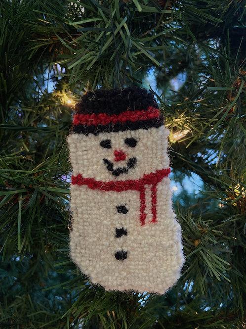 Snowman Ornament | Chéticamp Rug Hooking